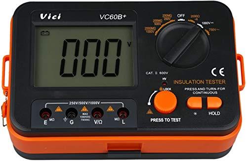 VICI VC60B+ Digital Insulation Resistance Tester DCV ACV Megohm Meter DC250/500/1000V AC750V