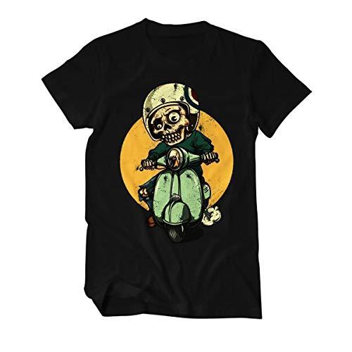 Skeleton Vespa Biker - T-Shirt Herren M Schwarz