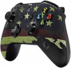 Xbox One S/X Modded Rapid Fire Soft Touch Controller - Includes Largest Variety of Modes -Jump Shot, Drop Shot, Quick Aim, Auto Aim, Quick Scope - Master Mod - USA Red White Blue (Flag)