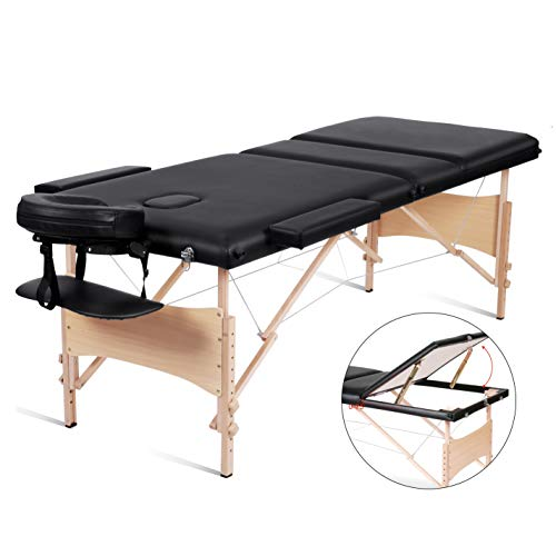 Why Choose MaxKare Massage Table Lash Bed Professional 84 Portable Facial SPA Bed 3 Fold Height Adj...