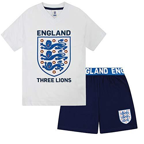 England - Jungen Schlafanzug mit Three-Lions-Motiv - kurz - Offizielles Merchandise -...