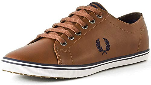 Fred Perry Kingston Leather Sneaker, Tan, 6 D UK (7 US)