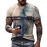 Shirt Hombres Estilo Hip Hop Vintage Cuello Redondo Manga Corta Hombres T-Shirt Verano Graffiti Moda Imprimir Hombres Shirt Ocio Personalidad Diseño Tendencia Hombres Streetwear TTA23-43 6XL