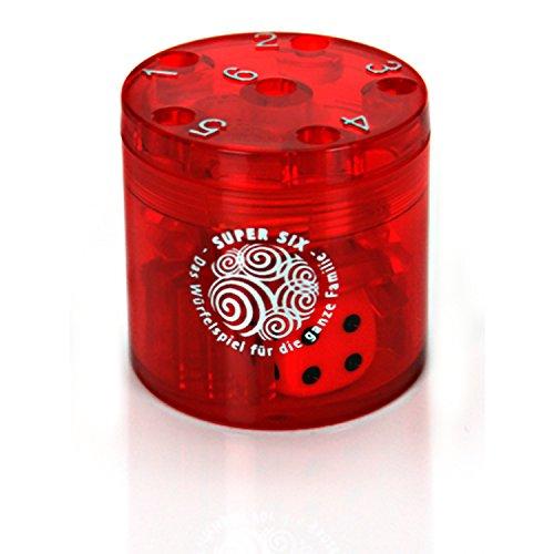 BestSaller 3011 Jeu de Voyage en ABS Family Super Six Taille S 5 x 5 cm Rouge Ø 5 cm