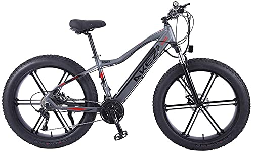 Bicicleta Eléctrica Bicicleta De Montaña para Adultos City E-Bike 26 Pulgadas Luz Portátil 350W Bicicleta De Montaña Eléctrica De Alta Velocidad E-Bike Tres Modos De Trabajo (Color: Gris) Montar Al A