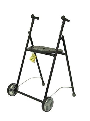 Forta fabricaciones - Andador de hierro para ancianos AIR-ON FORTA - Negro ⭐