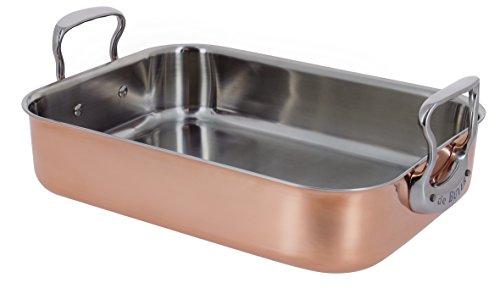 DE BUYER -6427.35 -plat a rotir cuivre trimetal 41 x 27 x 13.35 cm