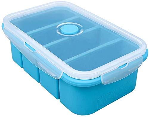 webake Silikon Gefrierfach mit Deckel, Lebensmittelbehälter, Vorratsbehälter für Eiswürfelbehälter für Suppensauce