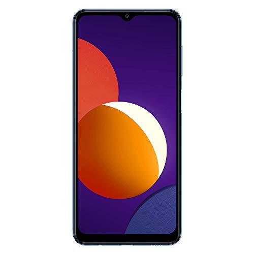 Samsung Smartphone Galaxy M12 con Pantalla Infinity-V TFT LCD de 6,5 Pulgadas, 4 GB de RAM y 128 GB de Memoria Interna Ampliable, Batería de 5000 mAh y Carga rápida Azul (ES Versión)