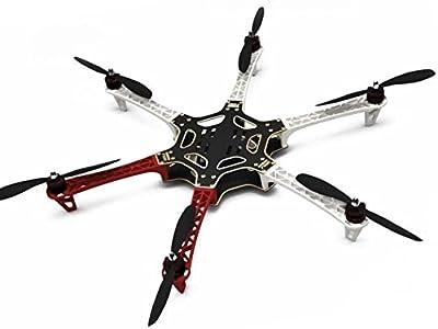 Hobbypower F550 ATF Hexacopter Frame Kit & X2212 980KV Brushless Motor & SimonK 30A ESC + 1045 Props by Hobbypower