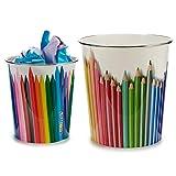 AR Papelera plastico Colores surt 2 - Medida: 23 x 23 x 24,5 cm. Approx- 1...