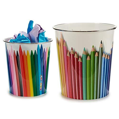 AR Papelera plastico Colores surt 2 - Medida: 23 x 23 x 24,5 cm. Approx- 1 Unidad...