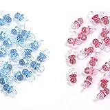 MINGZE 100 piezas de acrílico plástico lindo azul y rosa pequeños chupetes...
