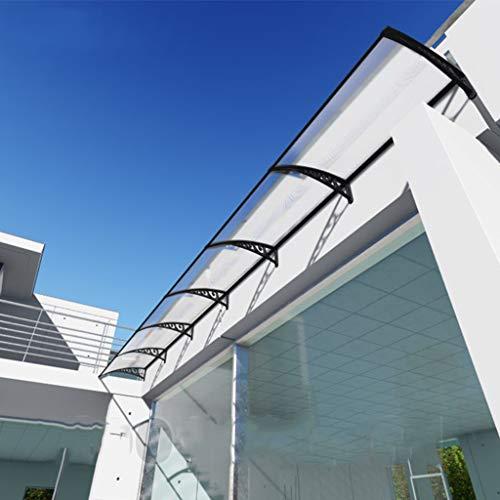WAKTN-Pensilina Porta di Copertura per Esterni per tettoia da Giardino, Parasole per Protezione UV, Scheda PC in policarbonato, Adatta per facciata di