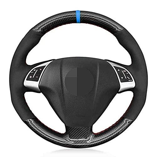 NASHDZ Cubierta de Volante Cosida a Mano para Coche, Apta paraFiat Grande Punto Bravo Linea 2007-2019 Qubo Doblo Opel Combo Vauxhall Combo 2012-2017