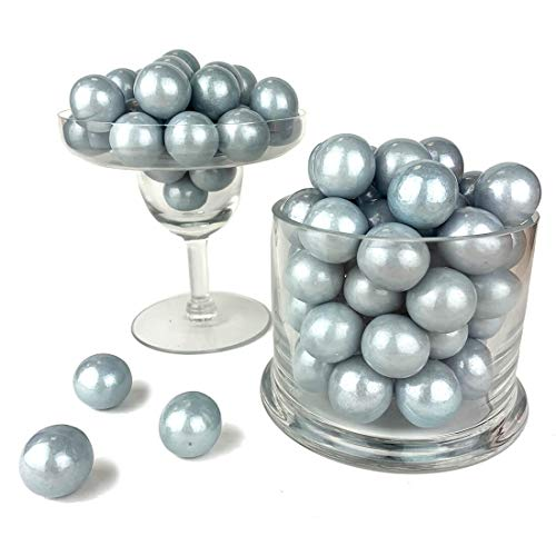 Color It Candy Shimmer Silver 1 inch Gumballs