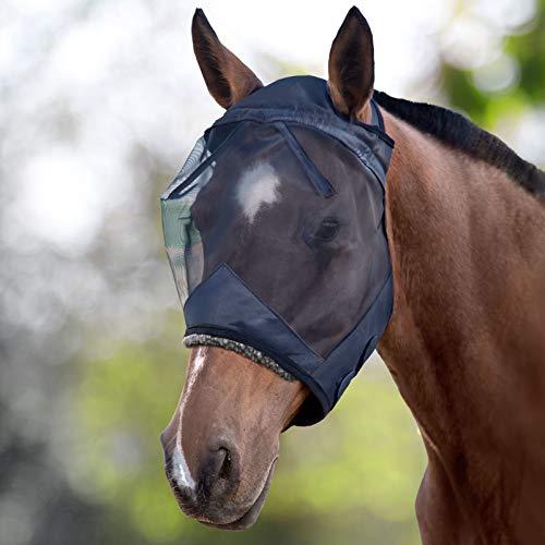Harrison Howard Fliegenmaske UV-Schutz | Ohne Ohren | Ohne Nase