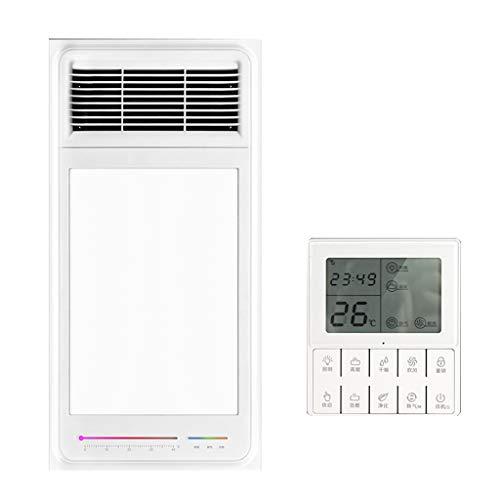Bathroom Heaters Multifunktionale Badezimmer Deckenventilator Heizung Lampen-Farben-Licht-Temperaturanzeige Freie Verdrahtung Fernbedienung PTC-keramische Heizung 24W LED-Beleuchtung