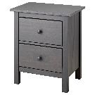 HEMNES 2-drawer chest - dark gray stained - IKEA