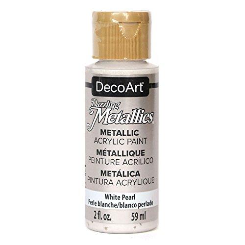 Deco Art Americana Peinture Acrylique métallique, Blanc Perle