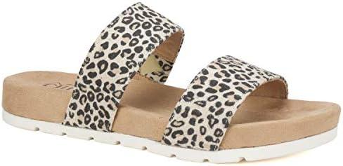 CLIFFS BY WHITE MOUNTAIN Shoes TAHLIE Women s Sandal Natural Leopard Suedette 7H M product image