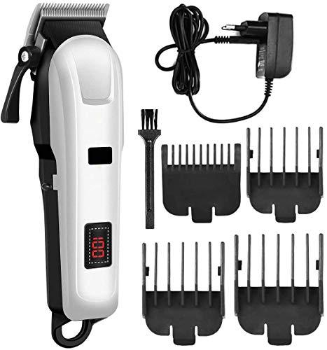 Professionale Clipper capelli per gli uomini, LCD digitale elettrico di taglio di capelli governare Shaver Kit Per la casa del barbiere Corfdless regolatore dei capelli per gli uomini adulti Bambino