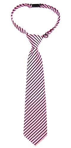 Retreez Modern Stripe Woven Microfiber Pre-tied Boy's Tie - Various Colors