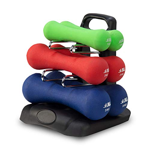 JLL® Ergonomic Neoprene Dumbbells Set Hand Weight Exercise Fitness Home Gym