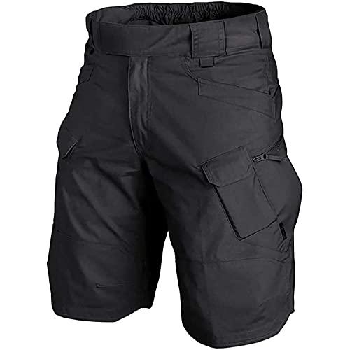 GUOL Pantalones Cortos Hombre Deporte Under Armour, Pantalones Cortos TáCticos Impermeables Mejorados 2021, Pantalones Cortos De Senderismo XL Negro