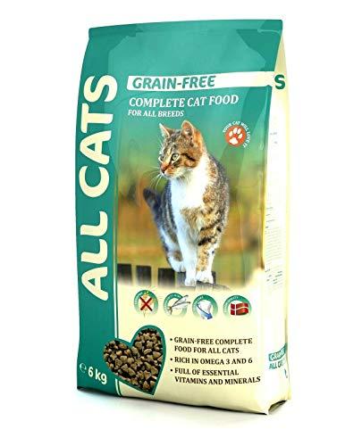 All Cats Katzenfutter Trockenfutter ohne Getreide 6kg Alleinfutter getreidefrei, dänische Qualität