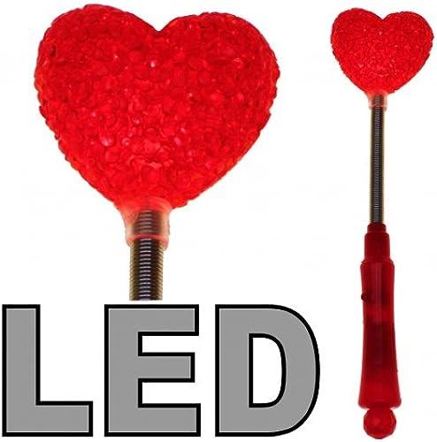 Kingdiscount 144 Stück Lichtkraft LED Herz Stab 24 cm - 3 Effekte