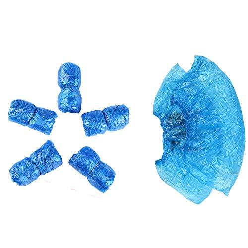 100 fundas desechables de plástico para zapatos impermeables, antideslizantes, para zapatos de...