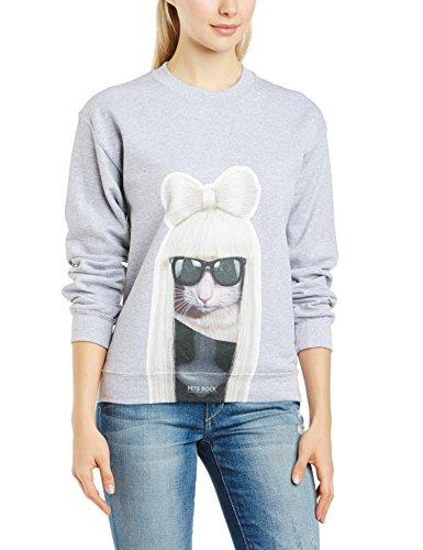 Brands In Limited Pets Rock GG Sweatshirt Sudadera, Grey Marl, 42 para Mujer