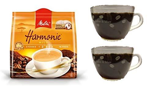 Tassen-Set + +Melitta Harmonie mild 16 St. + 2 Kaffeebecher mit Henkel cc 200