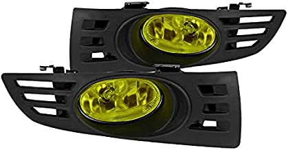 Spec-D Tuning Yellow Lens Fog Lights + H11 Bulbs Included for 2003-2005 Honda Accord 2D Coupe Fog Light Lamp Assembly Left + Right Pair
