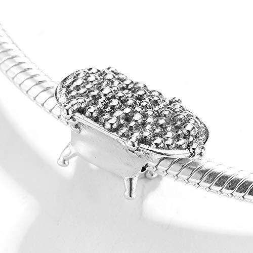 DASFF nieuwe 925 sterling zilveren badkuip bedels voor het maken van sieraden Fit originele armband