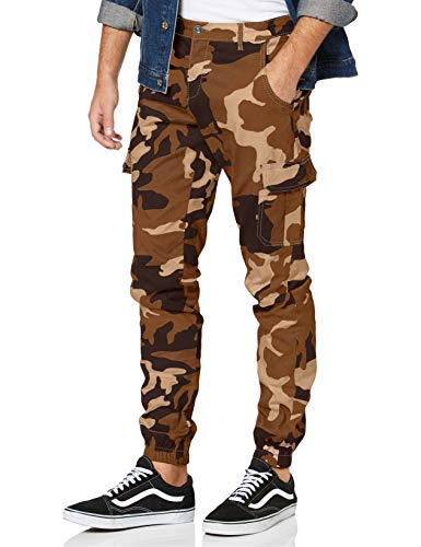 Urban Classics Herren Cargo Jogging Pants 2.0 Hose, darkground camo, 28