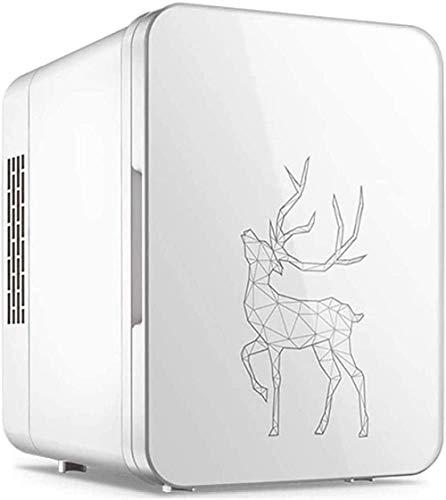 RENXR Mini Nevera 4L Refrigerador Y Calentador Portátil para Bebidas, Cosméticos/Maquillaje/Cuidado De La Piel, Energía AC/DC para Dormitorio, Hogar, Caravana, Coche, Blanco
