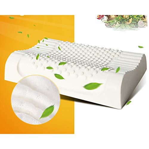 JNXZHJJ Natuurlijke Latex Bed Cervical Kussen Gezondheid Orthopedische Kussen voor nek Dunlopillo Latex Schuim Kussen Slaap