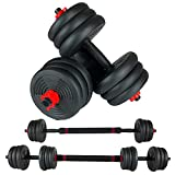 YuniMuse Adjustable Dumbbells, Free Weights Dumbbells, Upgrade Double Safety Nuts, Extended Non-Slip Handles, Barbells Dumbbells 44LB/66LB (22LB Dumbbells Pair (Barbell 44LB))…