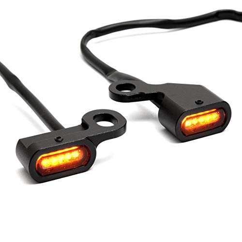 Mini clignotants LED pour guidon Softail 96-14, Dyna 96-17, Sportster 96-13