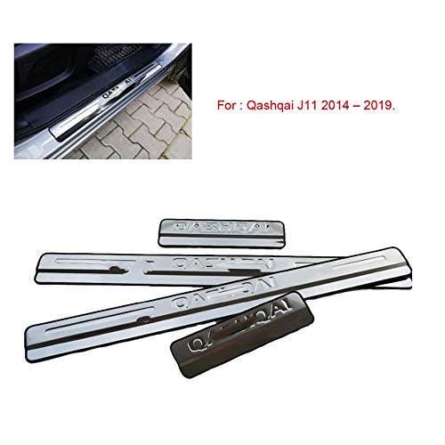 Stainless Steel Door Sill Pedal For Qashqai J11 2014-2020 Door Sill Scuff Plate Door Sill Pedal Car Styling