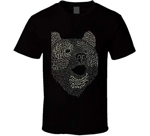 Tee-shirt géant en forme de tête d'ours en peluche 3D - Doux et câlin - Noir - XXX-Large