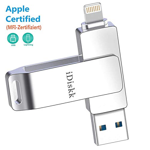 Memoria USB 3.0 de 32 GB para iPhone con Conector Lightning Certificado por MFI Compatible con iOS iPad y Mac