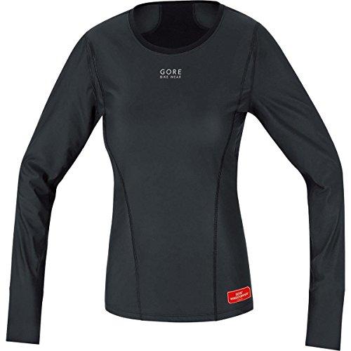 GORE BIKE WEAR Base Layer Windstopper Lady Termo - Camiseta de ciclismo para mujer, color negro, talla 42