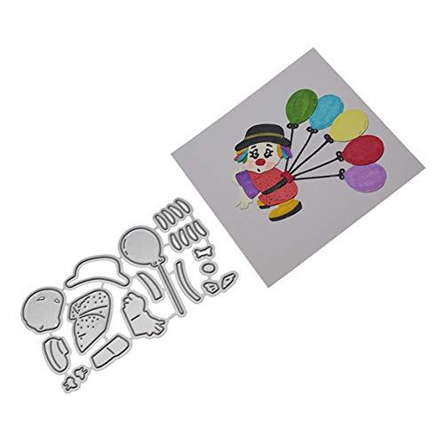 CAOLATOR Schablonen Stanzformen Clown Scrapbooking Stanzmaschine Kohlenstoffstahl Sterben Stanzschablone Stanzen Schneiden für Scrapbooking Fotopapier Karten Handwerk Prägen