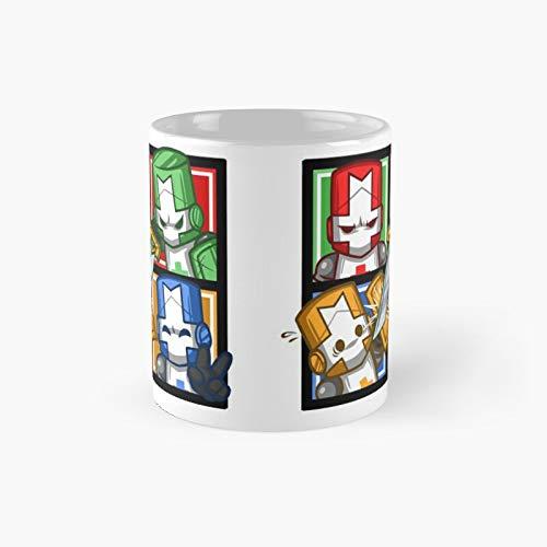 Castle Crashers - Tazza classica a quattro quadrati, idea regalo, divertente