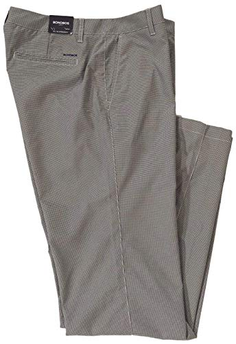 Bonobos Golf Men's Mini Houndstooth Check Performance Wicking Casual Pants (Stone, 34/34)