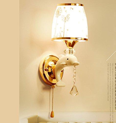 WENMW creatieve persoonlijkheid Dolphin LED wandlamp slaapkamer eenvoudige achtergrond moderne wandschakelaar kinderkamer warm lichteffect