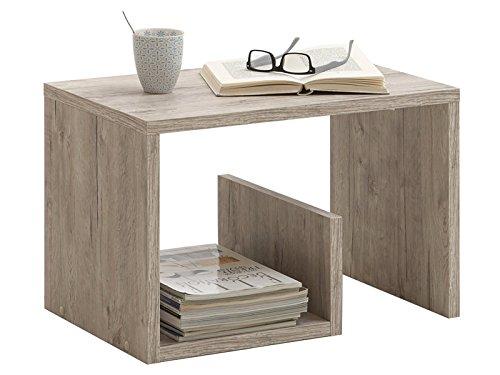 möbelando Couchtisch Sofatisch Dekotisch Ziertisch Holztisch Tisch Beistelltisch Malte Sandeiche